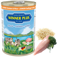 Winner Plus SUPER PREMIUM MENU JUNIOR Chicken & Rice - Консерви для цуценят з куркою і рисом, 400 г