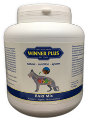 WINNER PLUS BARF Mix - 100% natural supplement with calcium, 1,4 kg