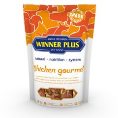 WINNER PLUS DogSnack Chicken Gourmet - Ласощі для собак з куркою, 100 г
