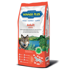 Winner Plus Adult holistic - Гіпоалергенний сухий корм для собак з куркою і ягням, 12 кг