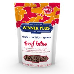 WINNER PLUS DogSnack Beef Bites - Ласощі для собак з яловичиною, 100 г