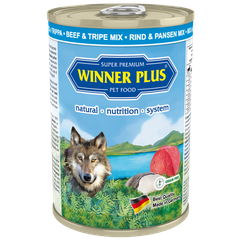 Winner Plus SUPER PREMIUM MENU PURE Beef & Tripe mix, 400 g